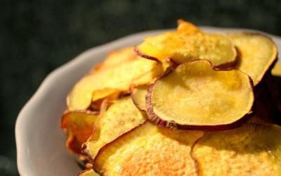 Chips de Batata Doce em 3 minutos